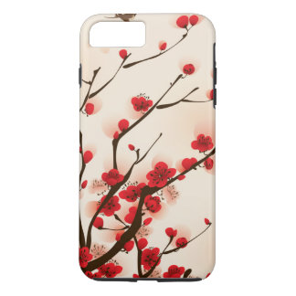 Asian Style Painting, Plum Blossom in Spring iPhone 8 Plus/7 Plus Case