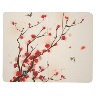 Asian Style Painting, Plum Blossom in Spring Journal