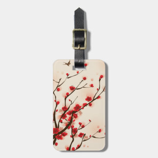 Asian Style Painting Plum Blossom in Spring Luggage Tag