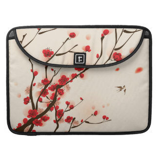 Asian Style Painting, Plum Blossom in Spring MacBook Pro Sleeves