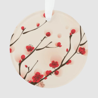 Asian Style Painting, Plum Blossom in Spring Ornament