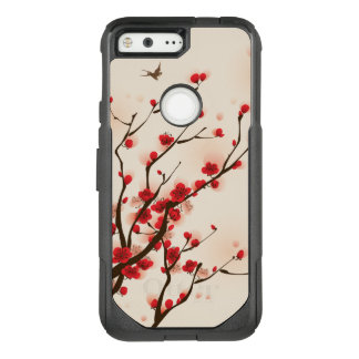 Asian Style Painting Plum Blossom in Spring OtterBox Commuter Google Pixel Case