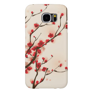 Asian Style Painting, Plum Blossom in Spring Samsung Galaxy S6 Cases