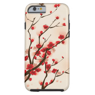 Asian Style Painting, Plum Blossom in Spring Tough iPhone 6 Case
