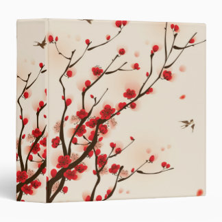 Asian Style Painting, Plum Blossom in Spring Vinyl Binders