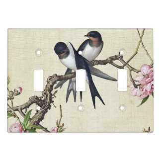 Asian Swift Bird Floral Animals Light Switch Cover