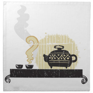 Asian Tea Ceremony Printed Napkins