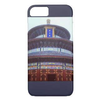 Asian temple/ Navy blue bkgrnd iPhone 8/7 Case