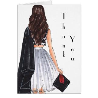 Asian Theme Graduation Thank You Card