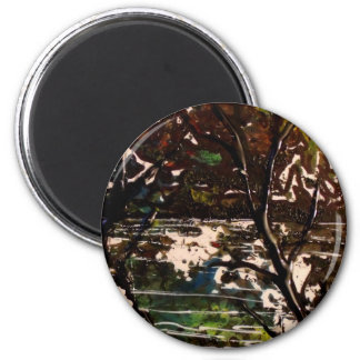 asian tree 2 inch round magnet