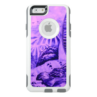 Asian Wallpaper pink blue OtterBox iPhone 6/6s Case