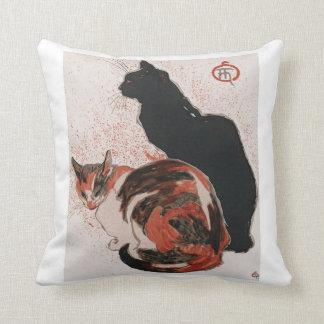 Asian watercolor cats throw pillow