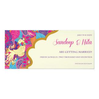 "Asian - Wedding - Henna - Save The Date 4"" X 9.25"" Invitation Card"