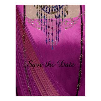 Asian Wedding Sari Postcard