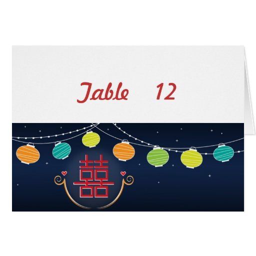 Asian Wedding Table Number Card #2