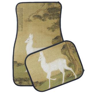 Asian White Roe Deer Animal Car Floor Mats