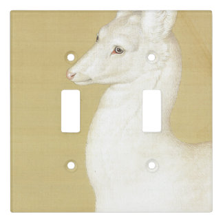 Asian White Roe Deer Animals Light Switch Cover