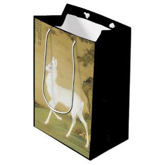 Asian White Roe Deer Wildlife Animal Gift Bag