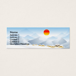 Asian Winter Sun Profile Card