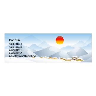 Asian Winter Sun Profile Card Mini Business Card
