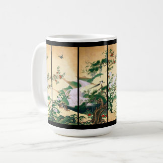 Asian Wisteria Dove Bird Rose Waterfall Mug