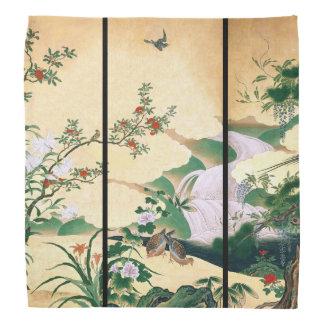 Asian Wisteria Doves Rose Waterfall Flower Bandana