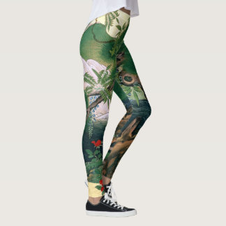 Asian Wisteria Flowers All Over Print Leggings