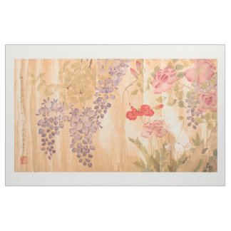 Asian Wisteria Rose Flowers Floral Fabric
