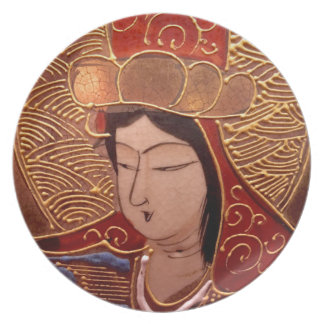 Asian Woman Melamine Plate