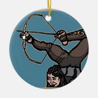 AsianFeetArcher Ceramic Ornament