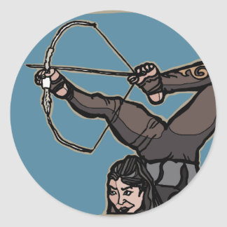 AsianFeetArcher Classic Round Sticker