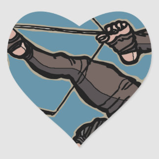 AsianFeetArcher Heart Sticker