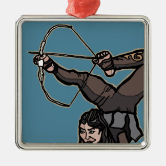 AsianFeetArcher Metal Ornament