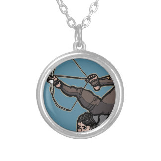 AsianFeetArcher Silver Plated Necklace