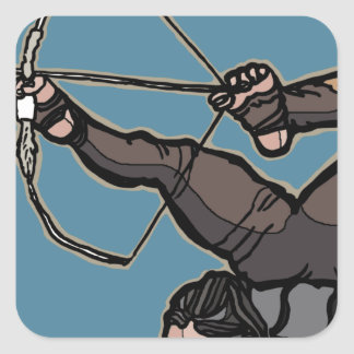 AsianFeetArcher Square Sticker