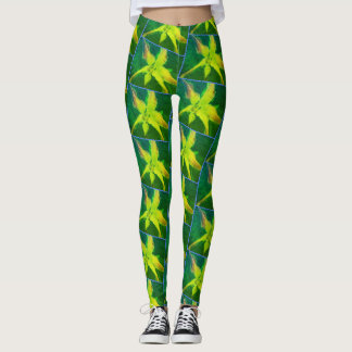 Asiatic Lilies Leggings [Greenleaf filter] blu