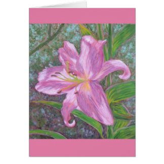 Asiatic lily card