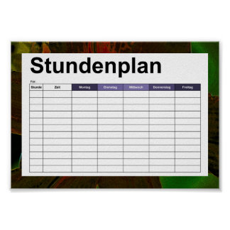 Asiatic lily Neon  timetable / stundenplan Poster