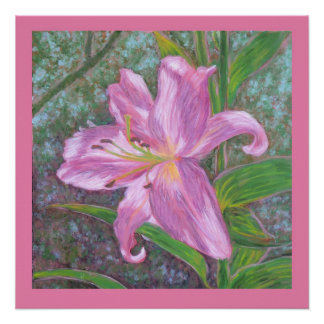 Asiatic lily print perfect poster