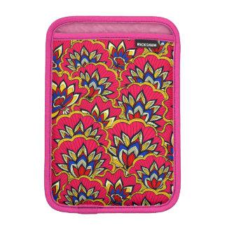 Asiatic red vibrant floral pattern iPad mini sleeve