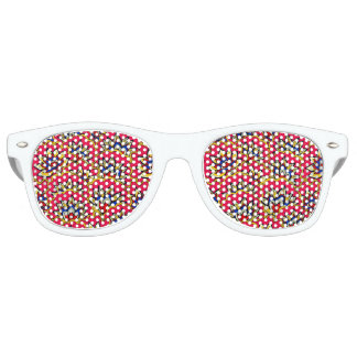 Asiatic red vibrant floral pattern party shades