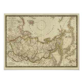 Asiatic Russia and northern polar region Poster
