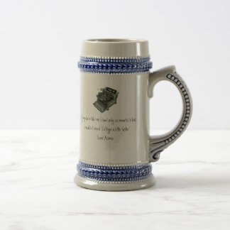 "Asimov ""If my doctor told me I had only six... Beer Stein"
