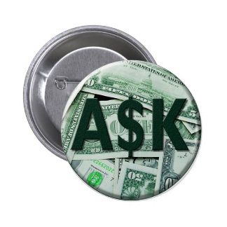 Ask 2 Inch Round Button
