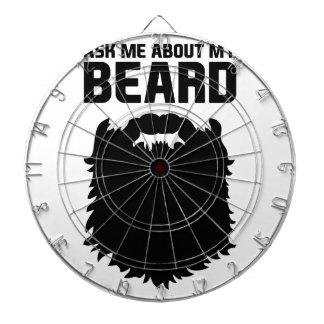 Ask About My Beard Dartboard