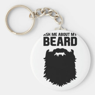 Ask About My Beard Keychain