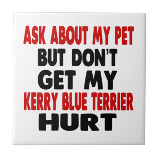 Ask About my Kerry Blue Terrier Tile