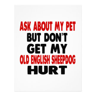 Ask About my Old English Sheepdog Personalized Letterhead
