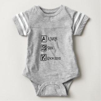 Ask, always seek knowledge baby bodysuit