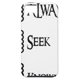 Ask, always seek knowledge iPhone 5 covers